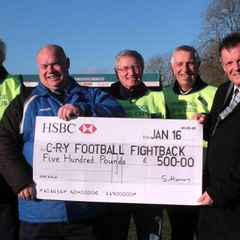 Lions donate £500.00 to Football Fightback