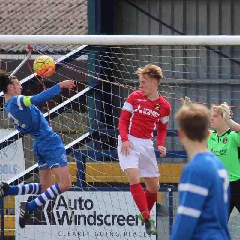 Ebbsfleet Utd. v Angels U16 (played at Longmead)01.05.16. by Lisa Fenton