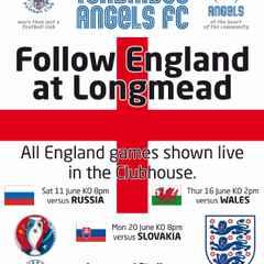 Slovakia v England : 20.06.16.  Live in the Longmead Lounge