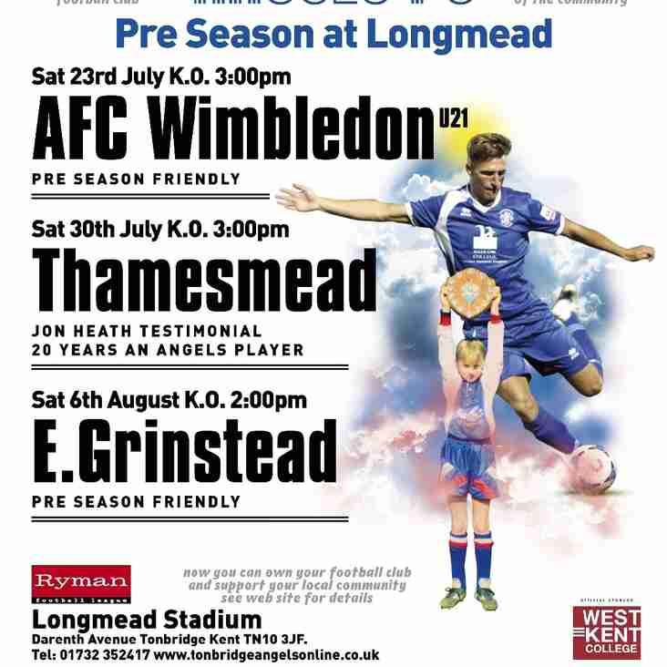 Pre-season friendlies at Longmead