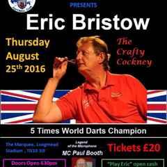Darts supremo Eric Bristow at Longmead 25.08.16.