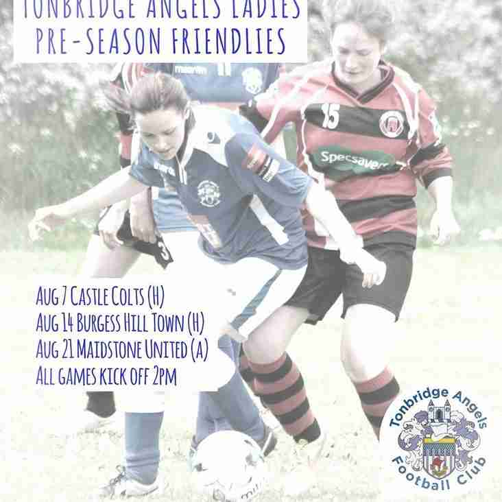 Pre-season friendlies for the Ladies