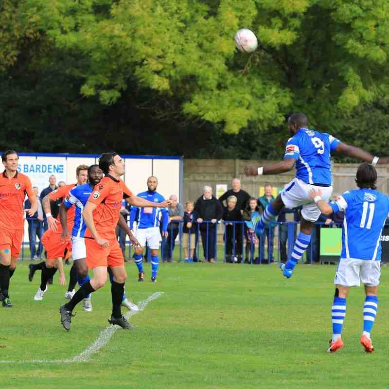 Angels (0) v Dartford (3) FA Cup 4th Qualifying round 15.10.16. By Ian Clear