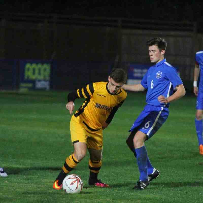 Angels u18s v Maidstone Utd U18s FA Youth Cup 3rd Qualifying Rd by David Couldridge. 19.10.16