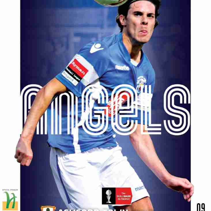 Programme Preview : Angels v Ashford Town (Middx) : 29.10.16.
