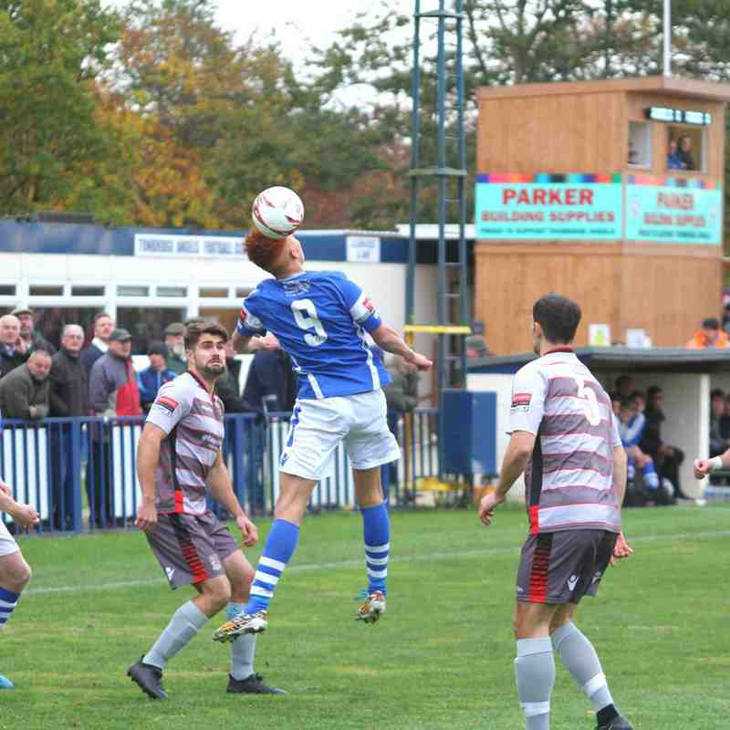 Angels (0) v Kingstonian (1) Ryman Premier 05.11. 16. By David Couldridge