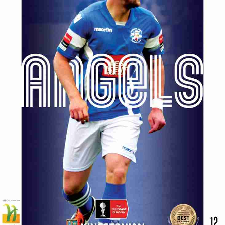 Programme Preview : Angels v Kingstonian : 15.11.16.