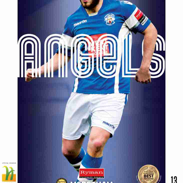 Angels v Merstham : 22.11.16. : Programme Preview