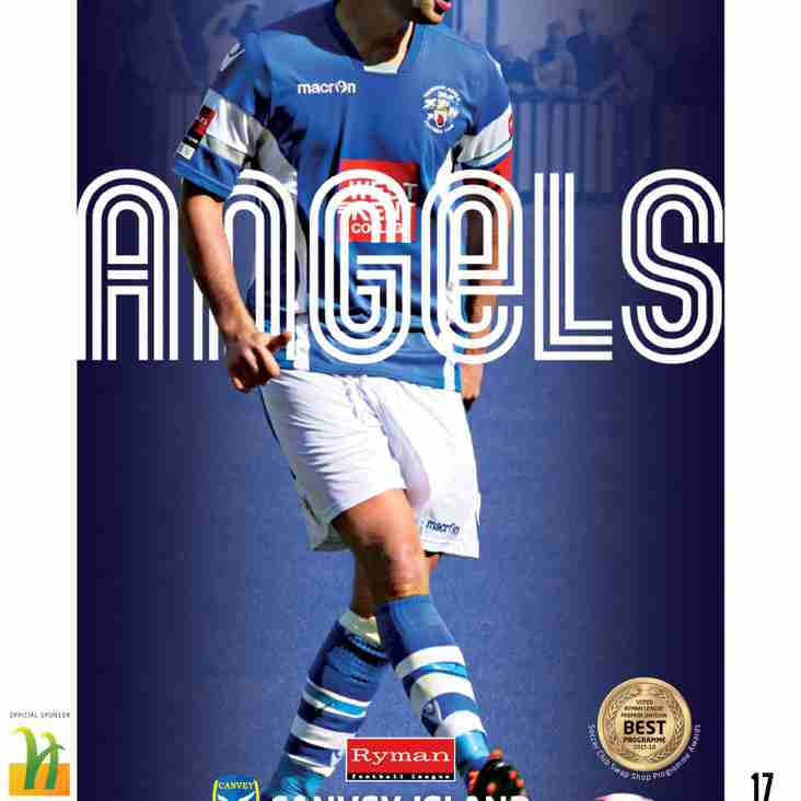 Angels V Canvey Island : 13.12.16.  Tonights programme preview