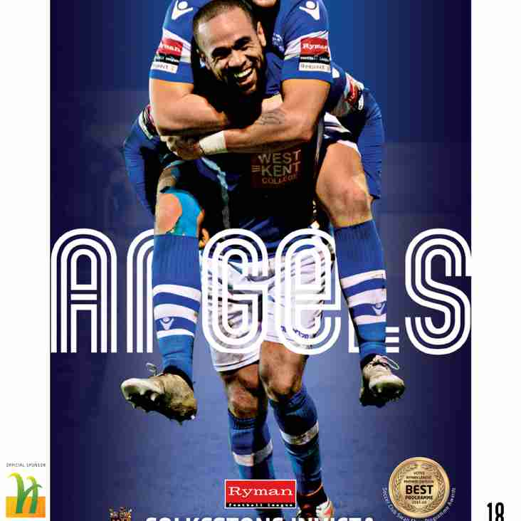 Angels v Folkestone Invicta : Boxing Day : Programme Preview