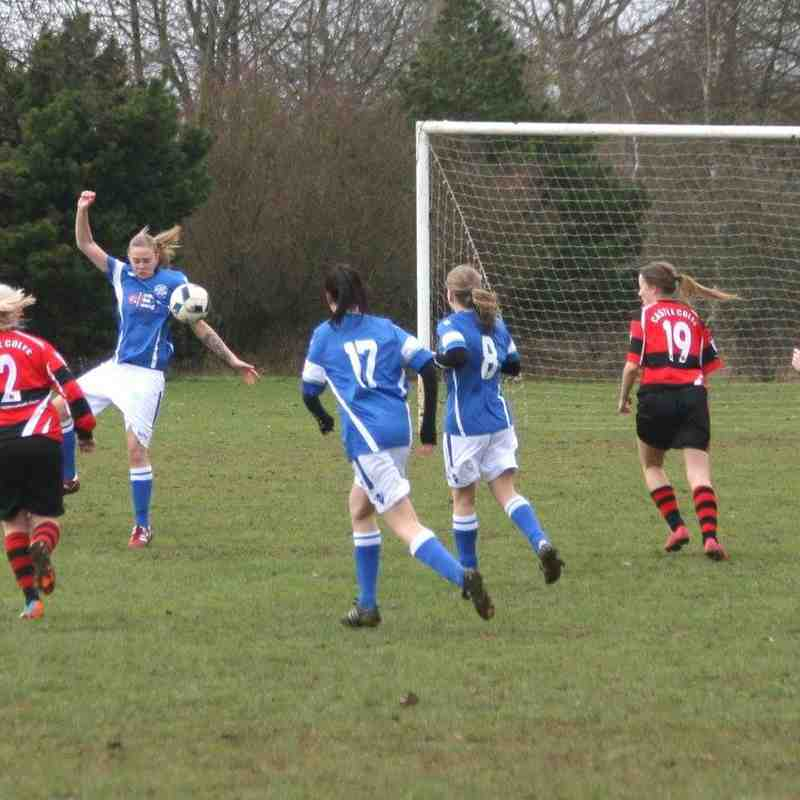 Castle Colts (0) v Angels Ladies (5) SEC 29.01.17. By Natalie Couldridge