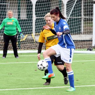 Ladies go down with honour to Maidstone Utd in Cup Quarter Final