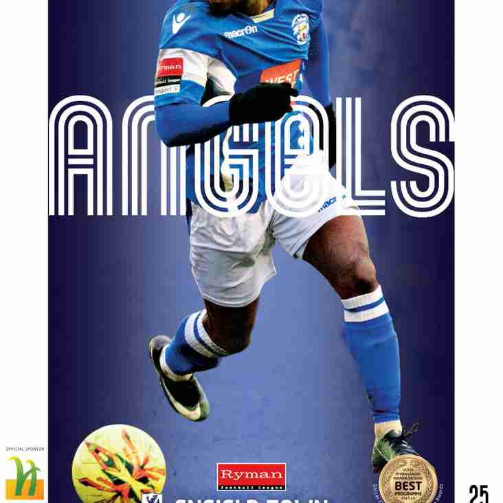 Angels v Enfield Town : 14.02.17. : Programme Preview