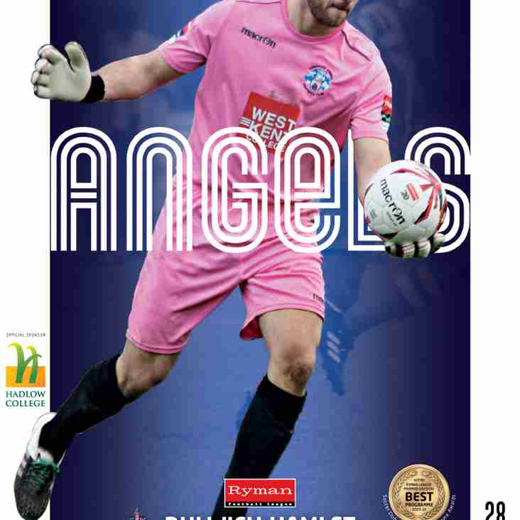 Angels v Dulwich Hamlet : 14.03.17. : Programme Preview