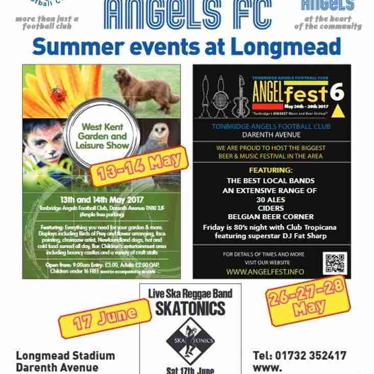 Summer Events at Longmead, Home of Tonbridge Angels FC