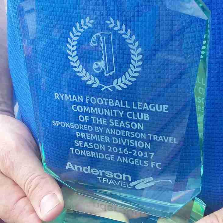 Angels bag Community Club of the Year Award