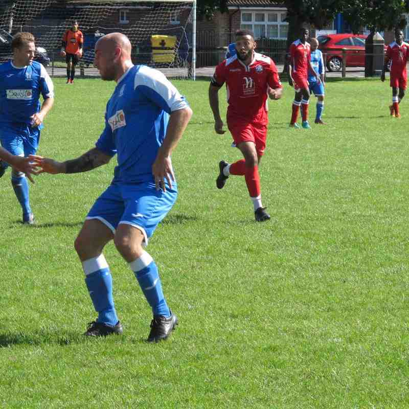 Sheerwater (2) v Angels U21s (1) Pre-season friendly 05.08.17. By Gary Wright