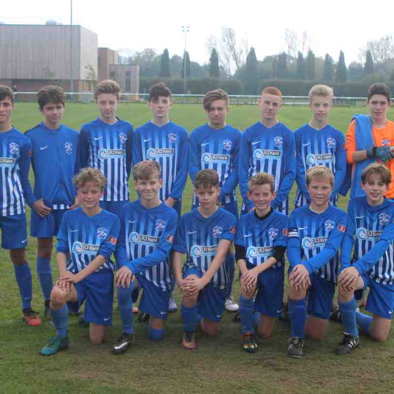 Angels U14s(1) v Kings Hill(0), Kent Youth League, 15.10.17. by Wink Tomkinson