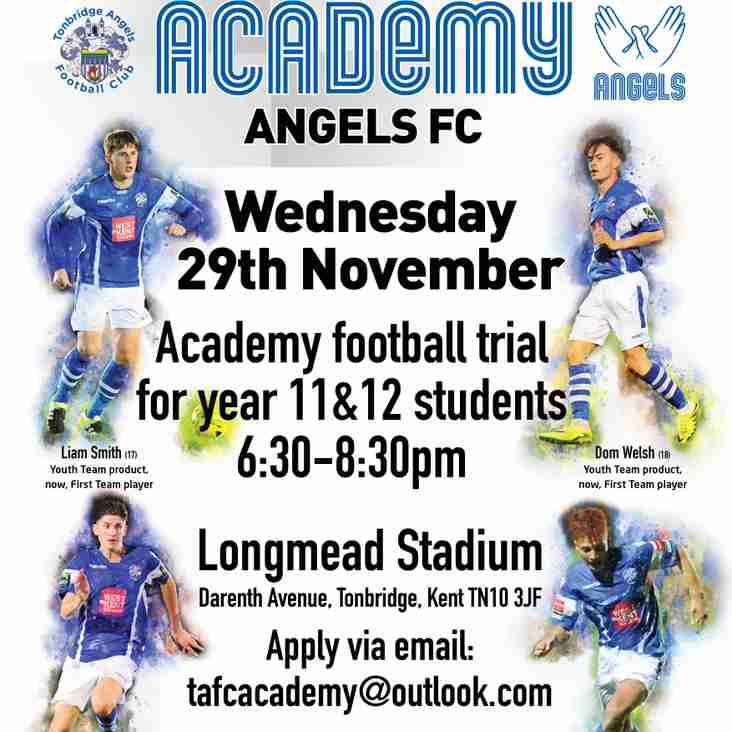 @tafc_academy open trials - just hours to go!