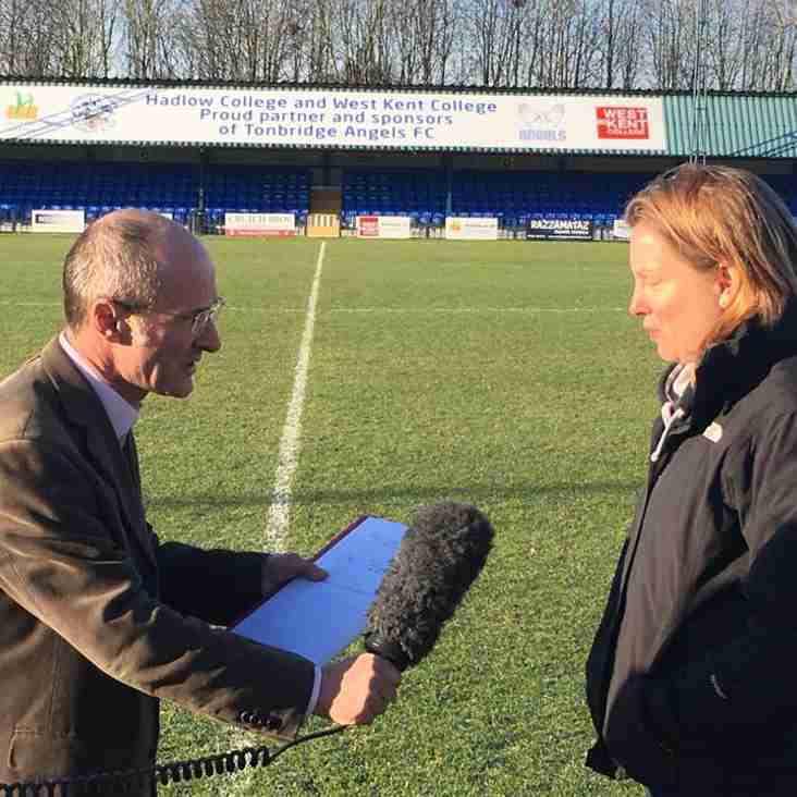 Sports Minister visits Longmead to mark Football Fightback
