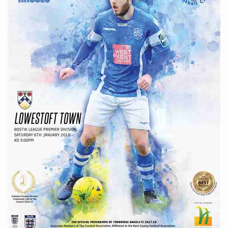 Angels v Lowestoft Town : 06.01.18. : Programme Preview
