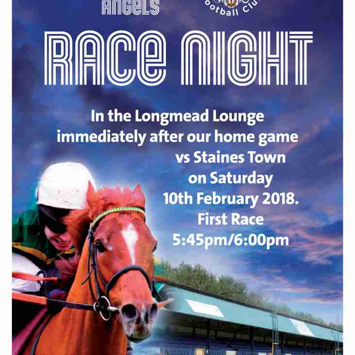 Race Night is coming