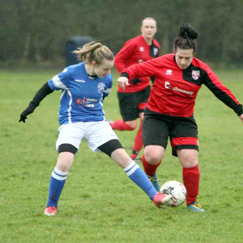 Angels Ladies (A) v Glebe (A) 21.01.18. Kent County Plate Qtr Final by Dave Couldridge