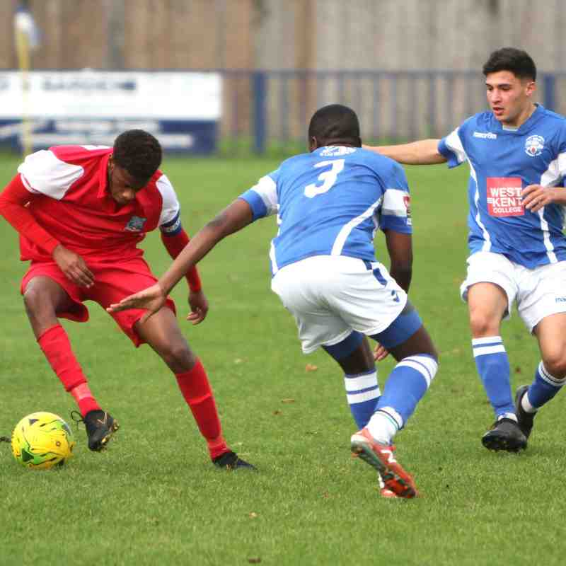 Angels U21s match action Nov 17 - Jan 18 by David Couldridge