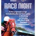 Race Night in the Longmead Lounge 10th March