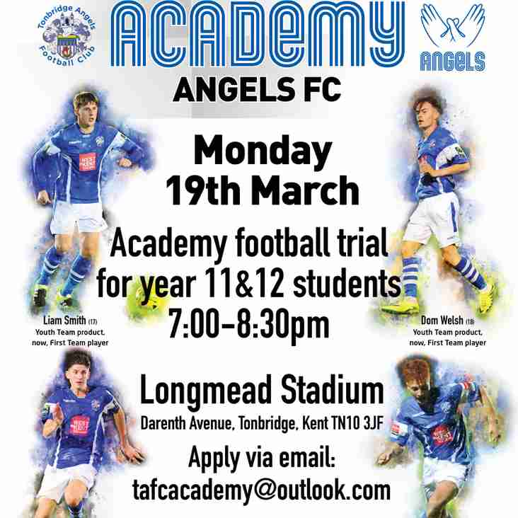 Open trials @tafc_academy 19th March