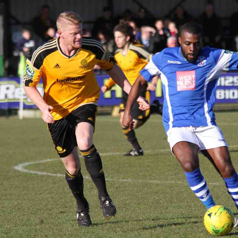 Merstham(0) vs Angels(1), Bostik Premier, 17.02.18. By David Couldridge