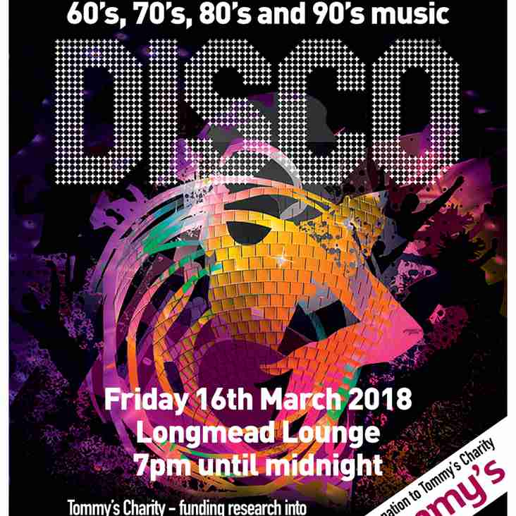 This Evening! 'Thru the Decades' Disco @ The Longmead Lounge