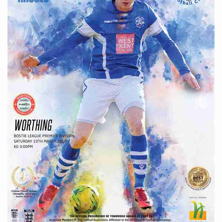 Angels vs Worthing :10.03.18. : Programme Preview