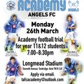 Open Trials for @tafc_academy 26th March