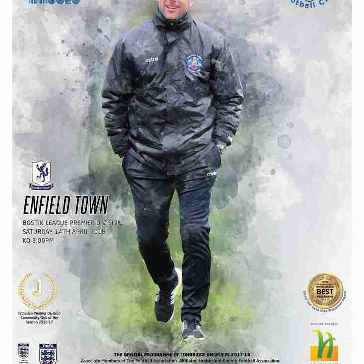 Angels vs Enfield Town : 14.04.18. Programme Preview