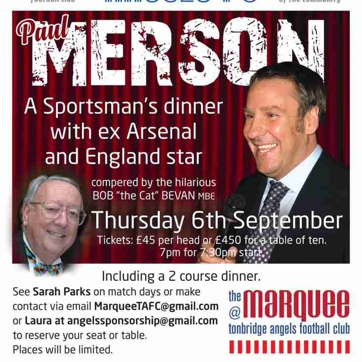 Sportsman's Dinner with Paul Merson Tonight!