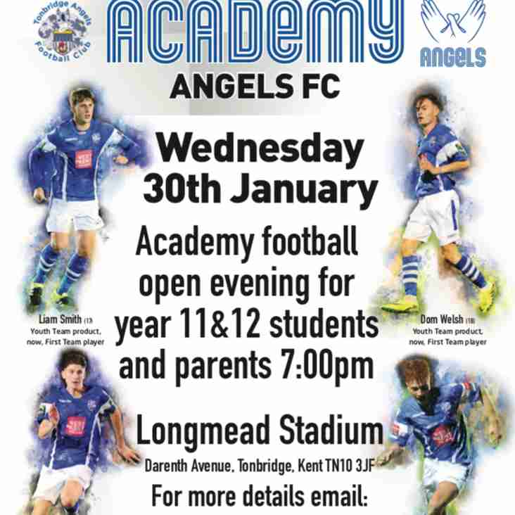 Further your education at Tonbridge Angels FC Academy