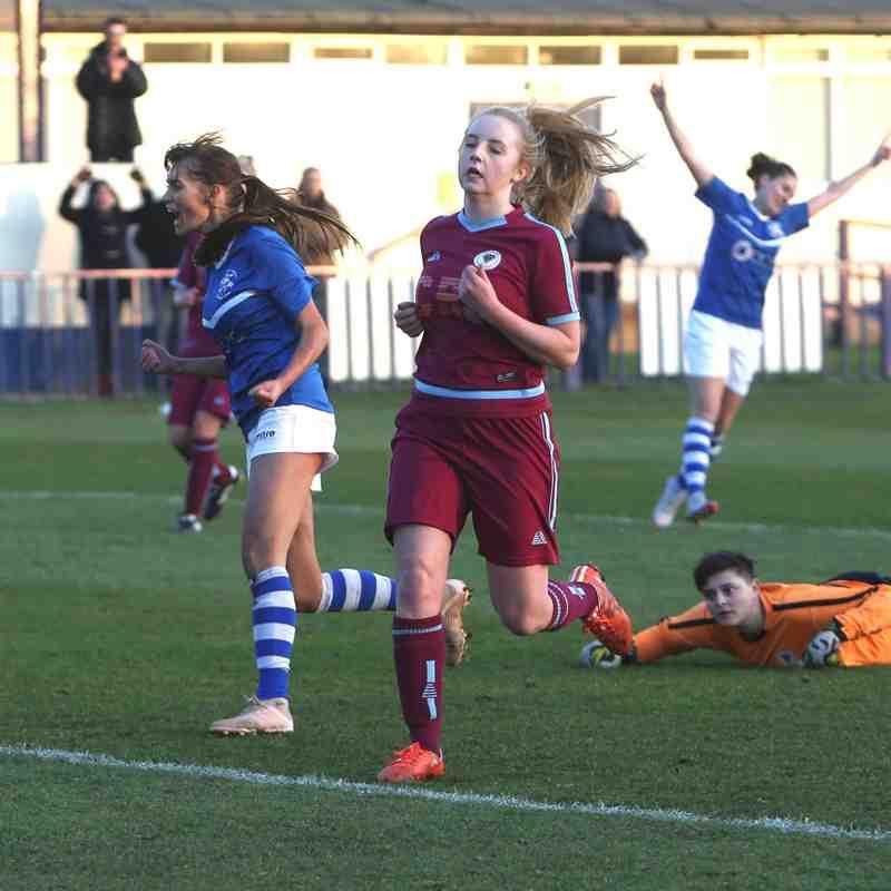 Angels Ladies (3) vs Diamond Utd (1) Kent Plate QF, 20.01.19 by David Couldridge