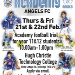 Open Trials for 2019/20 Angels Academy
