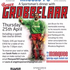 Bruce Grobbelaar Sportsman's Dinner, The Marquee @ Tonbridge Angels