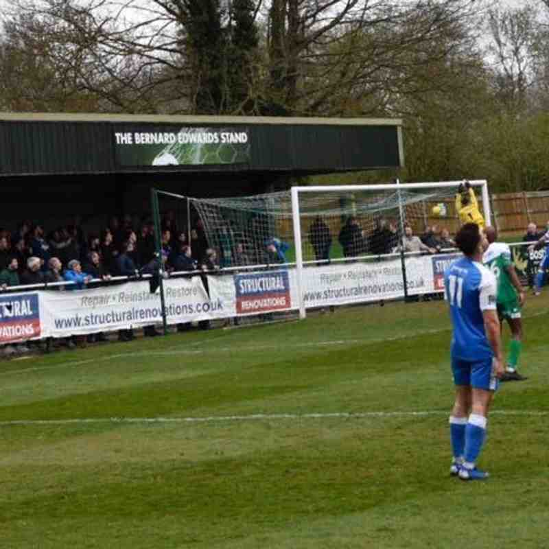 Leatherhead (1) vs Angels (0), 06.04.19. Bostik Premier. By Michael William Page and David Couldridge