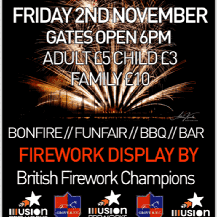 Grove RFC Fireworks Display