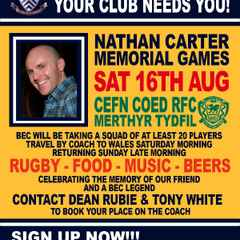 Nathan Carter Memorial XV games at Cefn Coed RFC