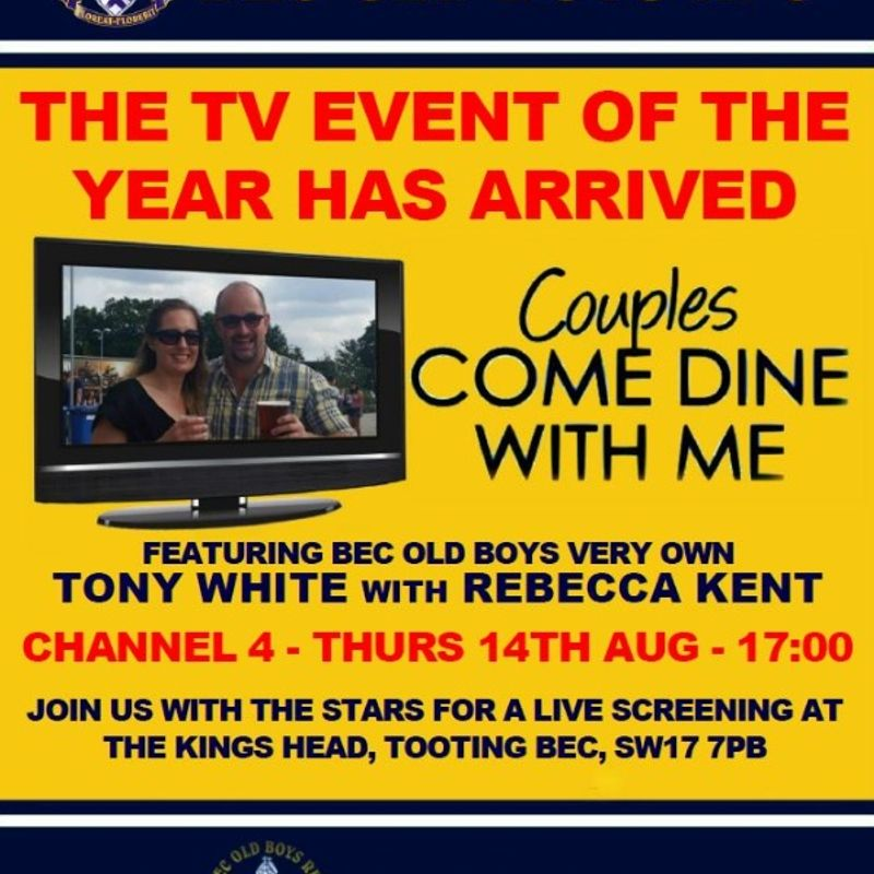 Bec player stars in TV's 'Couples Come Dine With Me'