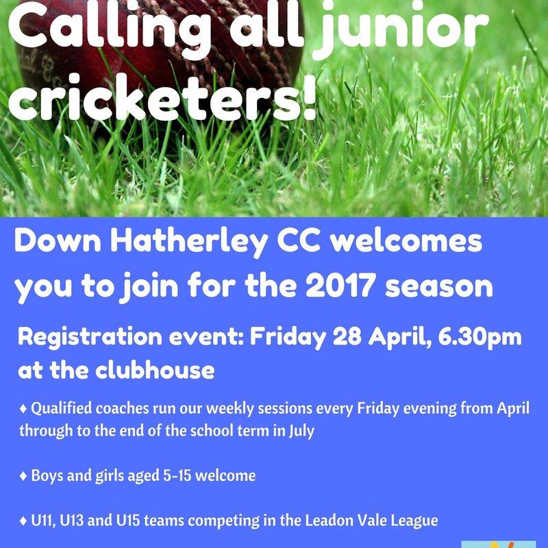 Junior Registration -3 days to go