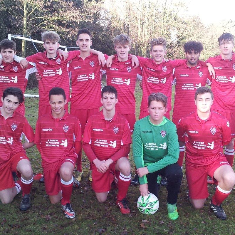 U15 Templars beat Ashwell 0 - 2