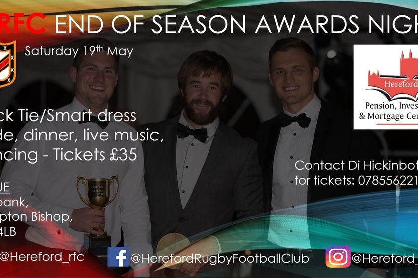 The Annual HRFC Dinner has been CANCELLED