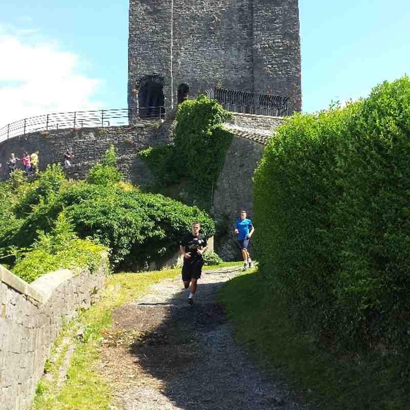 Pre season training at the Castle.