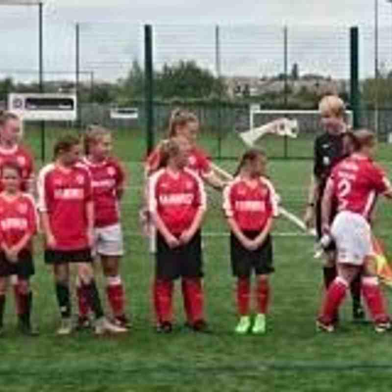 27-08-17 1st Team vs Liverpool Marshall Feds Ladies line up