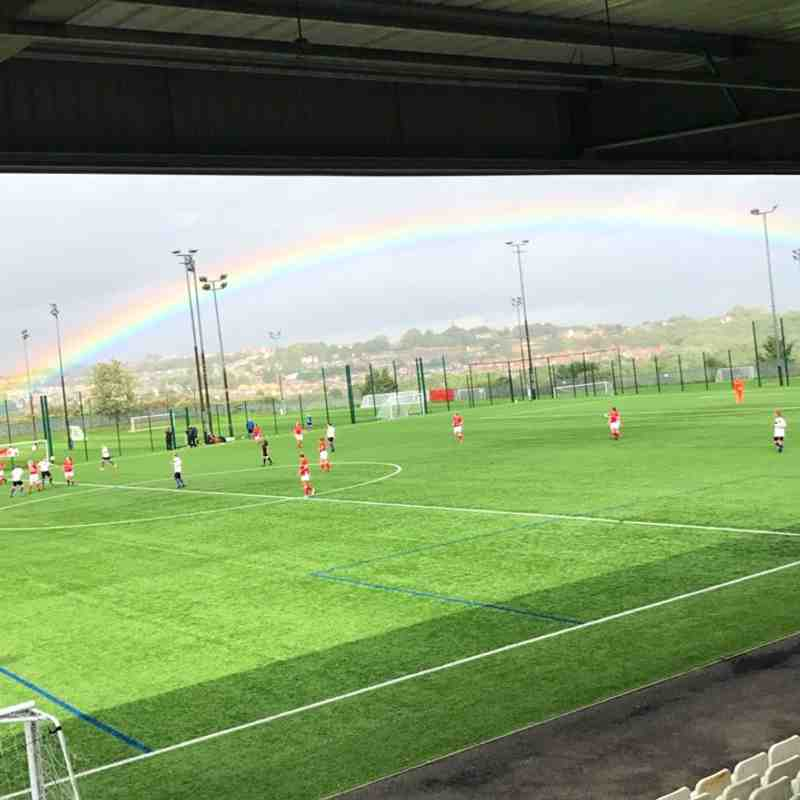 10-09-17 Chorley Ladies Rainbow over Oakwell